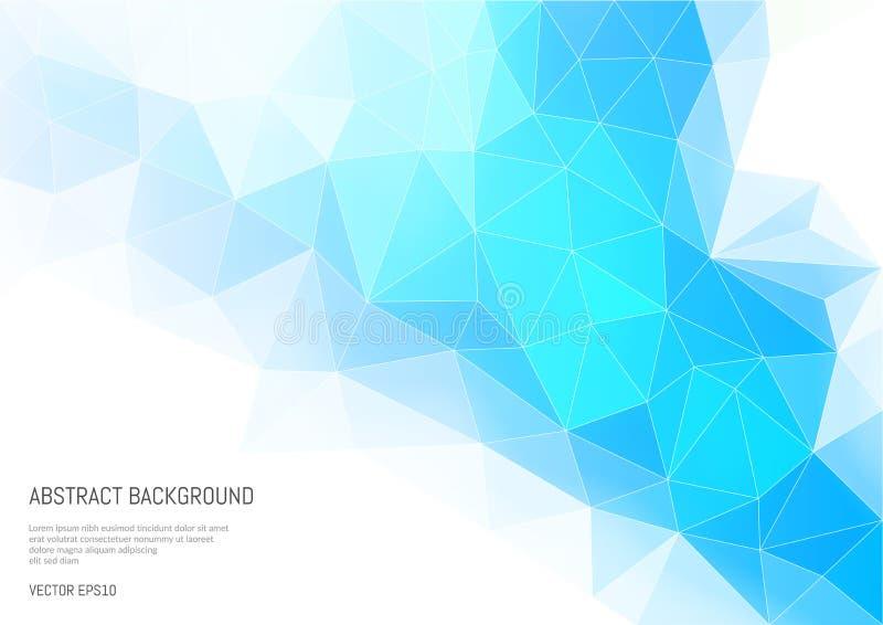 Fondo abstracto en el estilo poligonal Convexidad y caras de una forma tridimensional stock de ilustración