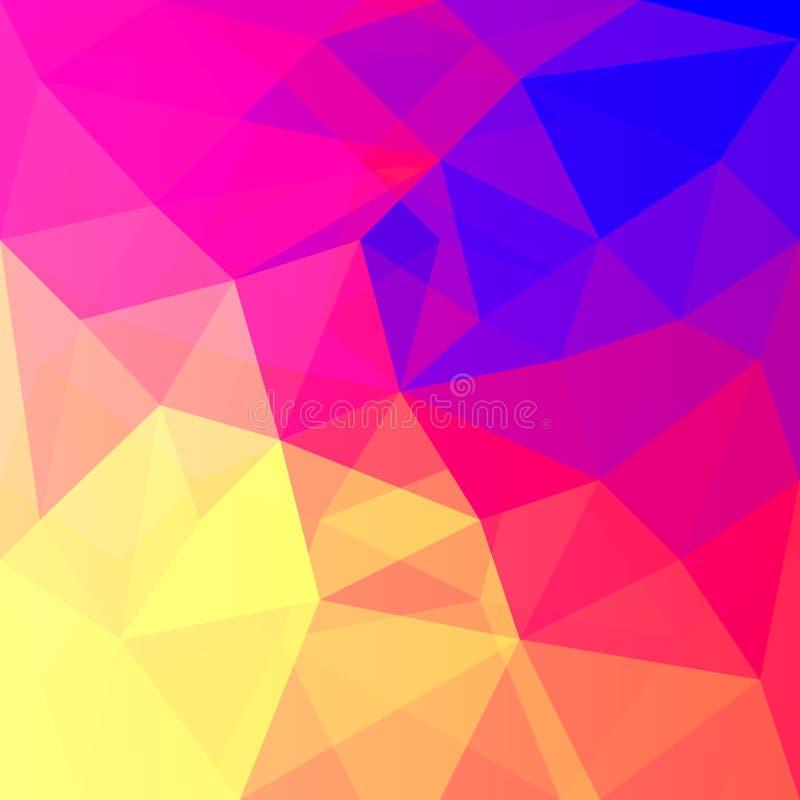 Fondo abstracto en el estilo poligonal Los colores brillantes del espectro ilustración del vector