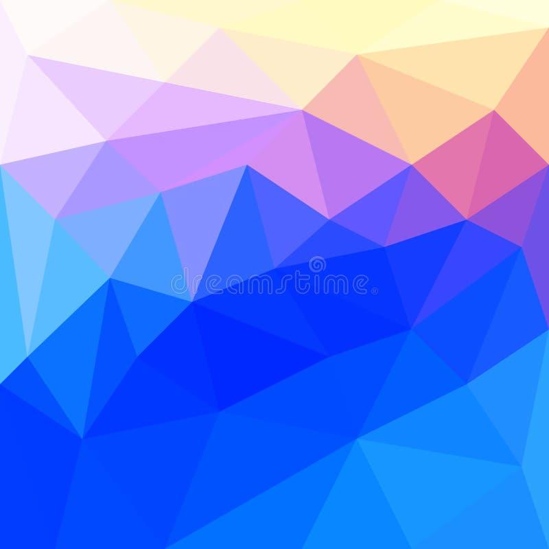 Fondo abstracto en el estilo poligonal Los colores brillantes del espectro stock de ilustración