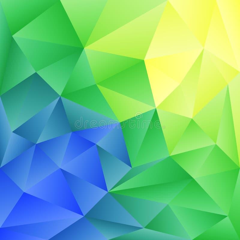 Fondo abstracto en el estilo poligonal Los colores brillantes del espectro libre illustration