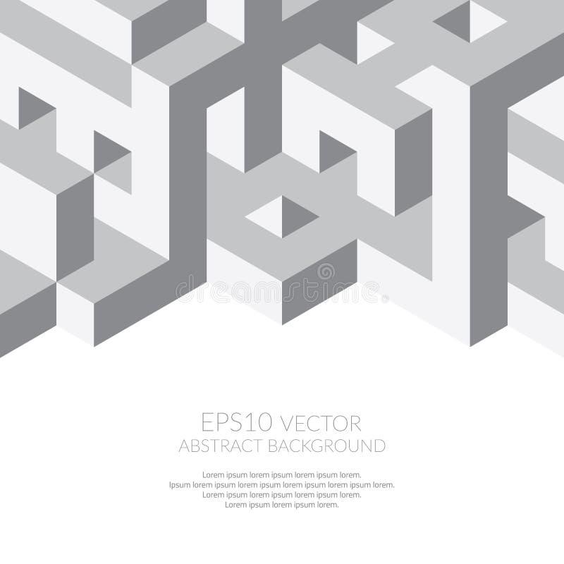 Fondo abstracto en estilo isométrico Estructura de formas tridimensionales libre illustration