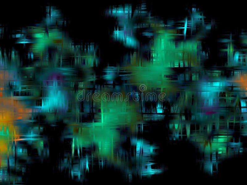 Fondo abstracto en sombras de azul, de verde, la aguamarina y el negro fotos de archivo