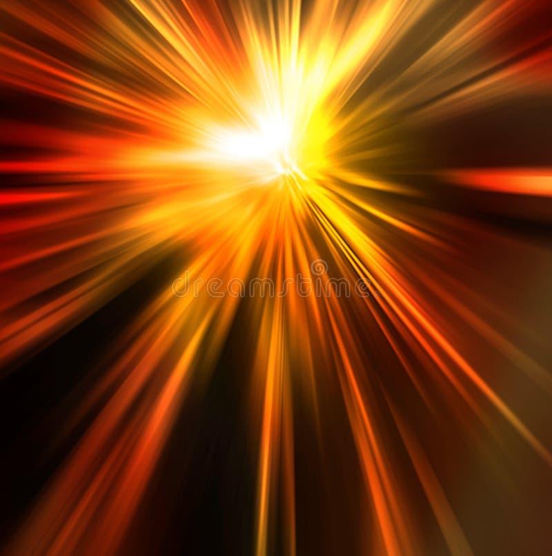 Fondo abstracto en tonos del rojo anaranjado y del amarillo libre illustration