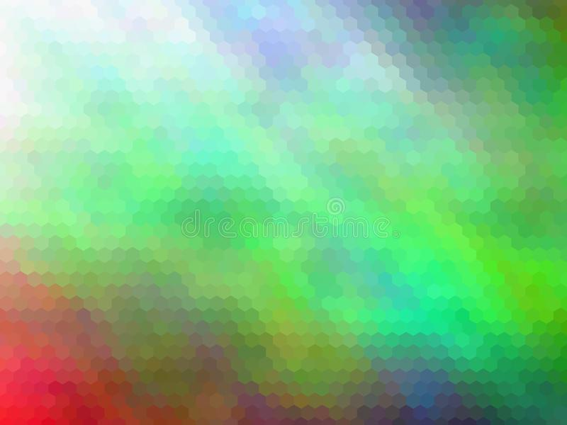 Fondo abstracto enmascarado Fondo abstracto hexagonal pixeled multicolor ilustración del vector