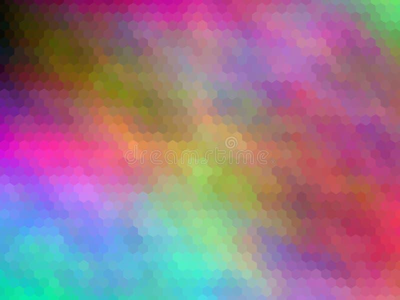 Fondo abstracto enmascarado Fondo abstracto hexagonal pixeled multicolor fotografía de archivo