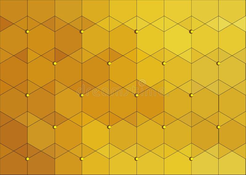 Fondo abstracto escamoso del oro stock de ilustración