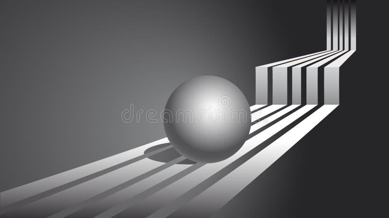 Fondo abstracto. Esfera libre illustration