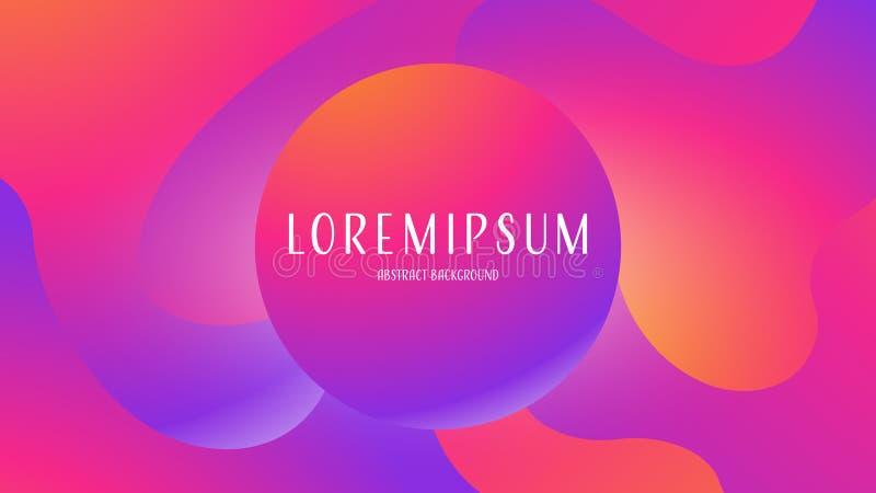 Fondo abstracto flúido de Proton de la púrpura del color plástico excepcional del rosa, fantasía futurista con diseño colorido de libre illustration