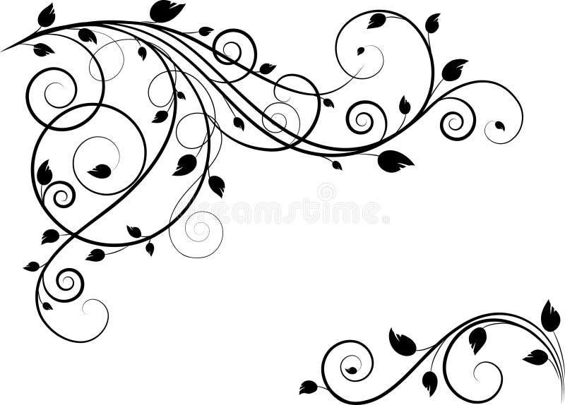 Fondo abstracto floral stock de ilustración
