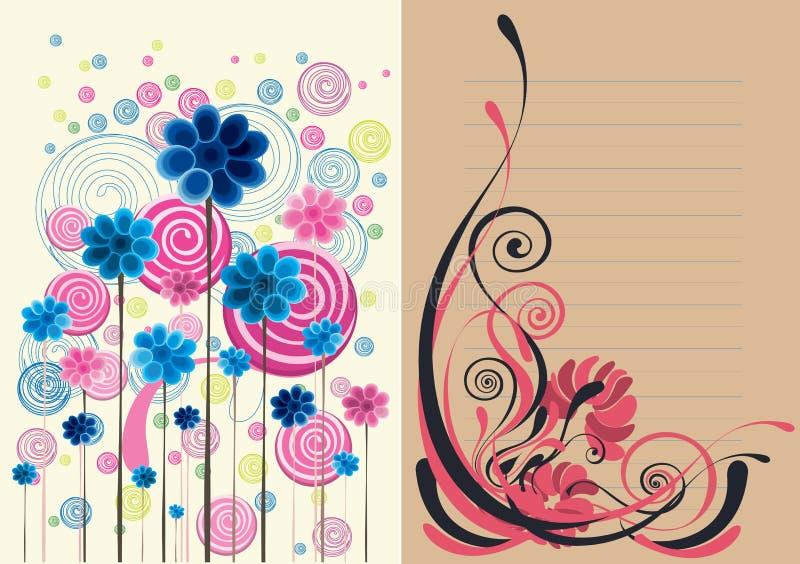 Fondo abstracto floral hermoso en suavemente marrón libre illustration
