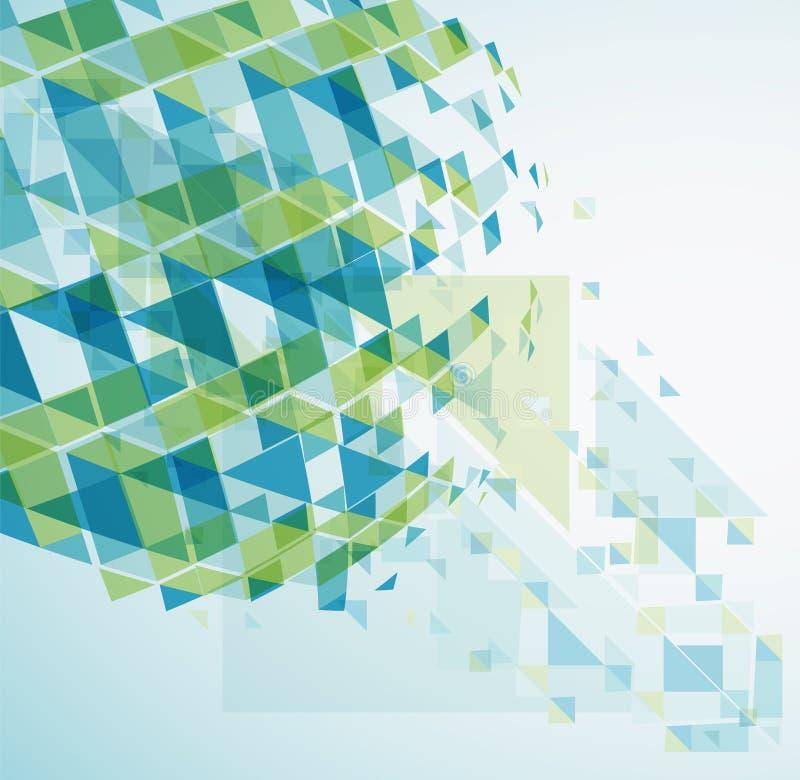 Fondo abstracto geométrico stock de ilustración