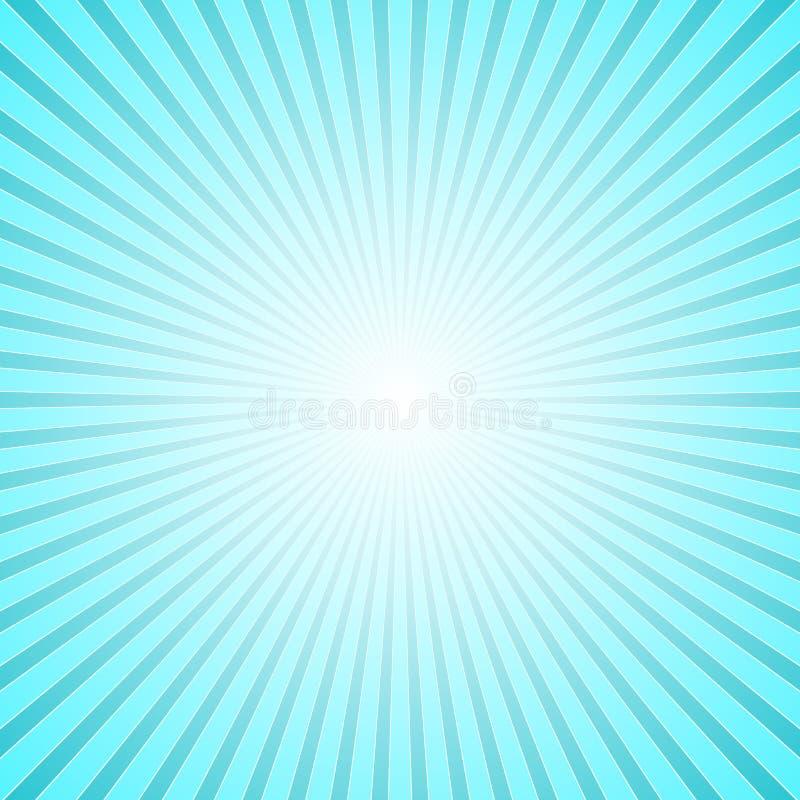 Fondo abstracto geométrico azul claro de la explosión del rayo ilustración del vector