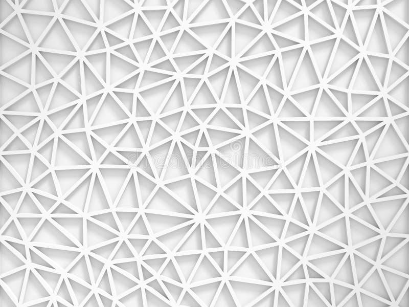 Fondo abstracto geométrico blanco de la pared de Poligon ilustración del vector