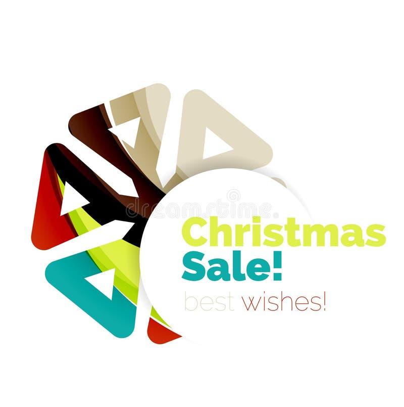 Fondo abstracto geométrico colorido de la Navidad ilustración del vector