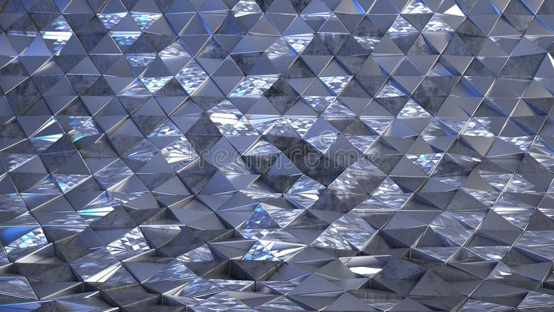 Fondo abstracto geométrico 3D imagen de archivo libre de regalías
