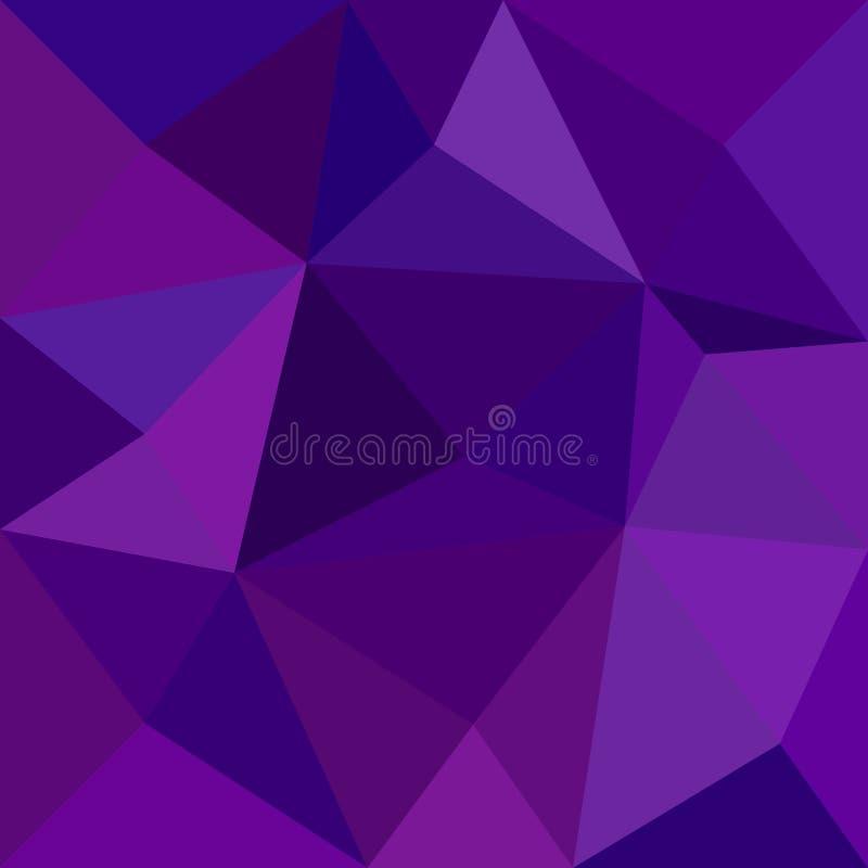Fondo abstracto geométrico del modelo de mosaico de la teja del triángulo - diseño del vector del polígono de triángulos en tonos ilustración del vector
