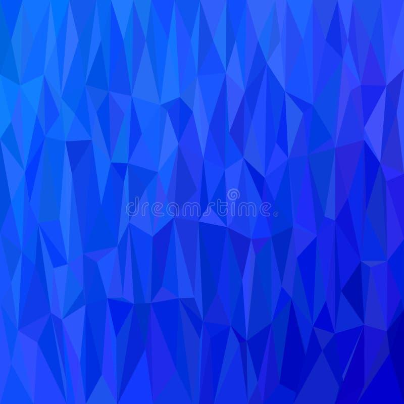 Fondo abstracto geométrico del modelo del triángulo - ejemplo del vector del mosaico del polígono de triángulos en tonos azules stock de ilustración