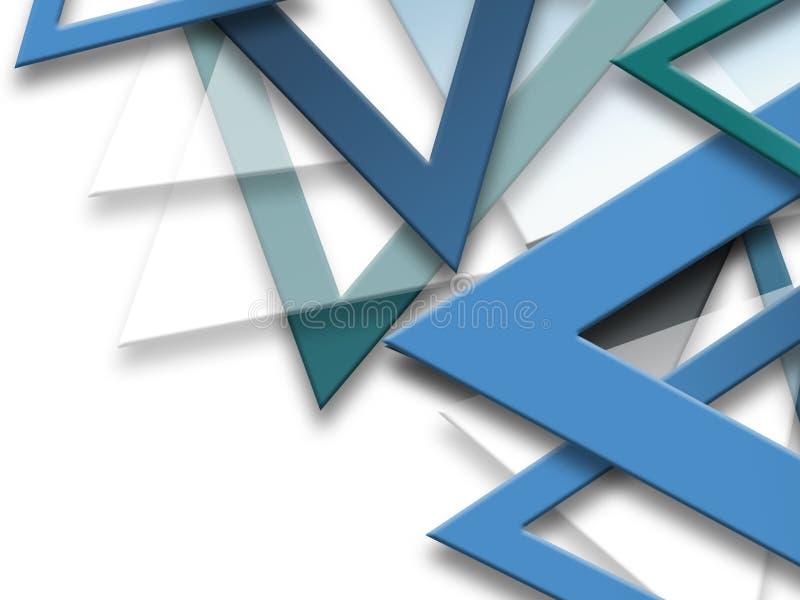 Fondo abstracto geométrico del repetiton de los triángulos, formas triangulares brillantes multicoloras, diseño de alta tecnologí ilustración del vector