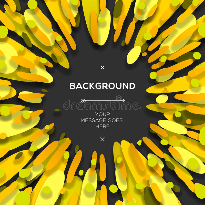 Fondo abstracto geométrico moderno amarillo stock de ilustración