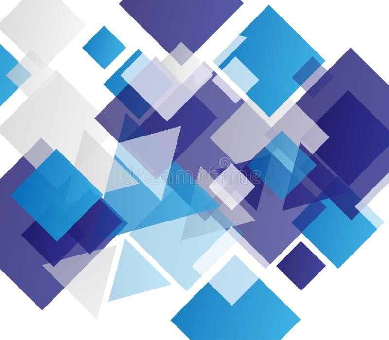 Fondo abstracto geométrico moderno azul stock de ilustración