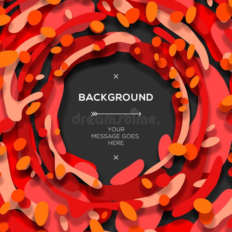 Fondo abstracto geométrico moderno rojo libre illustration