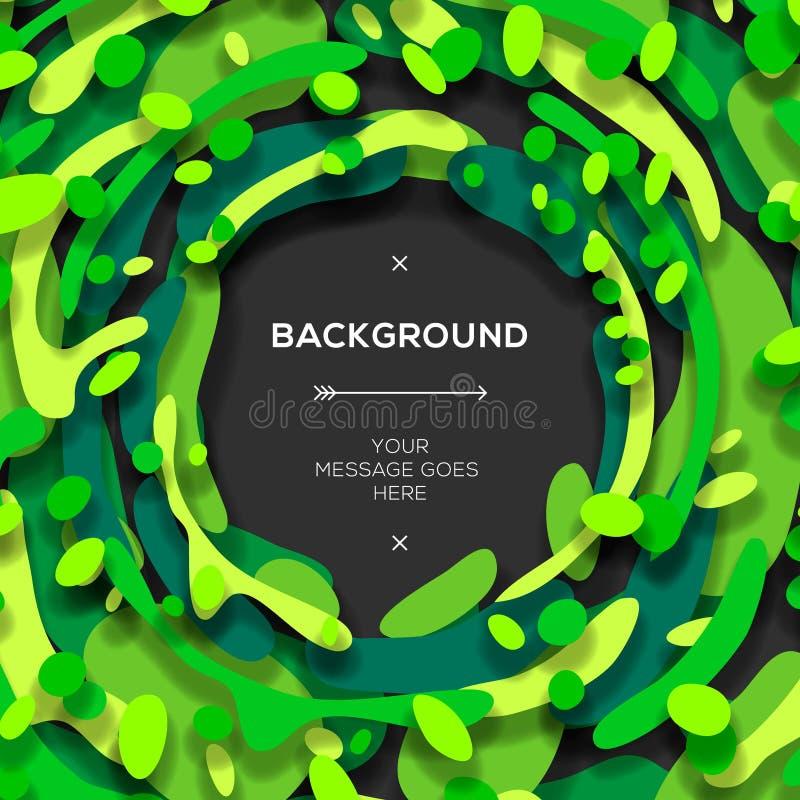 Fondo abstracto geométrico moderno verde libre illustration