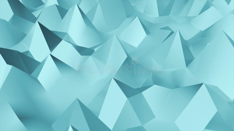 Fondo abstracto geométrico polivinílico bajo en estilo triangular y del polígono grabado en relieve libre illustration