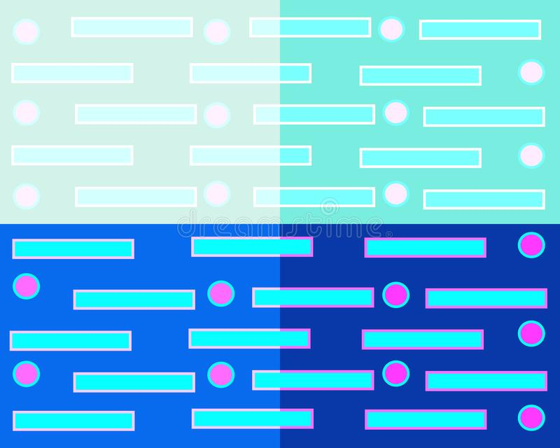 Fondo abstracto geométrico que consiste en cuatro cuadrados de diversos colores ilustración del vector
