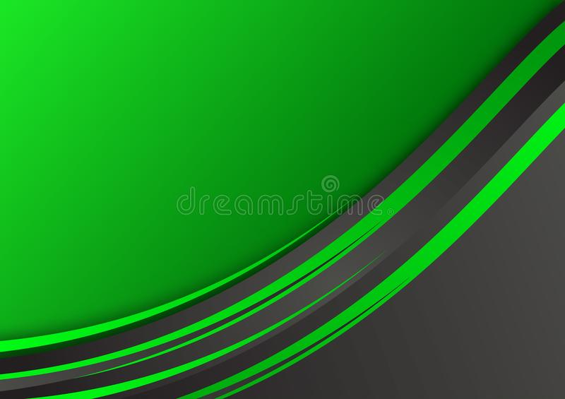 Fondo abstracto geométrico verde y negro del vector con el espacio de la copia stock de ilustración