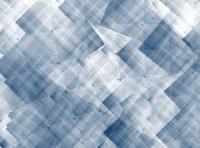Fondo abstracto gris con cuadrados y una textura al azar stock de ilustración
