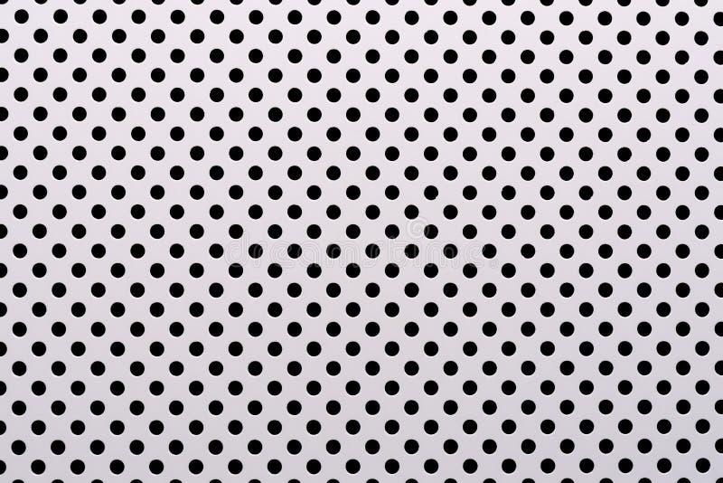 Fondo abstracto gris encendido basado del metal, de los círculos y de las sombras, textura de la superficie blanca con muchos agu ilustración del vector