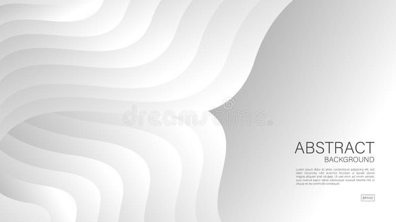 Fondo abstracto gris, vector geométrico, textura gráfica, mínima, diseño de la cubierta, plantilla del aviador, bandera, página w ilustración del vector
