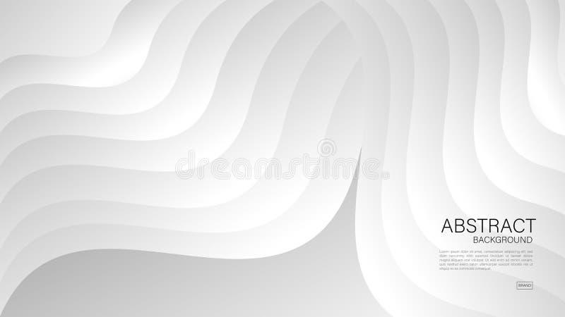 Fondo abstracto gris, vector geométrico, textura gráfica, mínima, diseño de la cubierta, plantilla del aviador, bandera, página w stock de ilustración