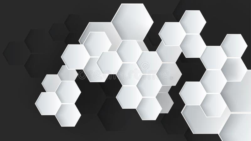 Fondo abstracto hexagonal del vector ilustración del vector