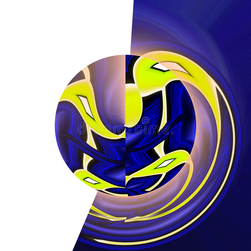 Fondo abstracto hipnótico en azul ilustración del vector