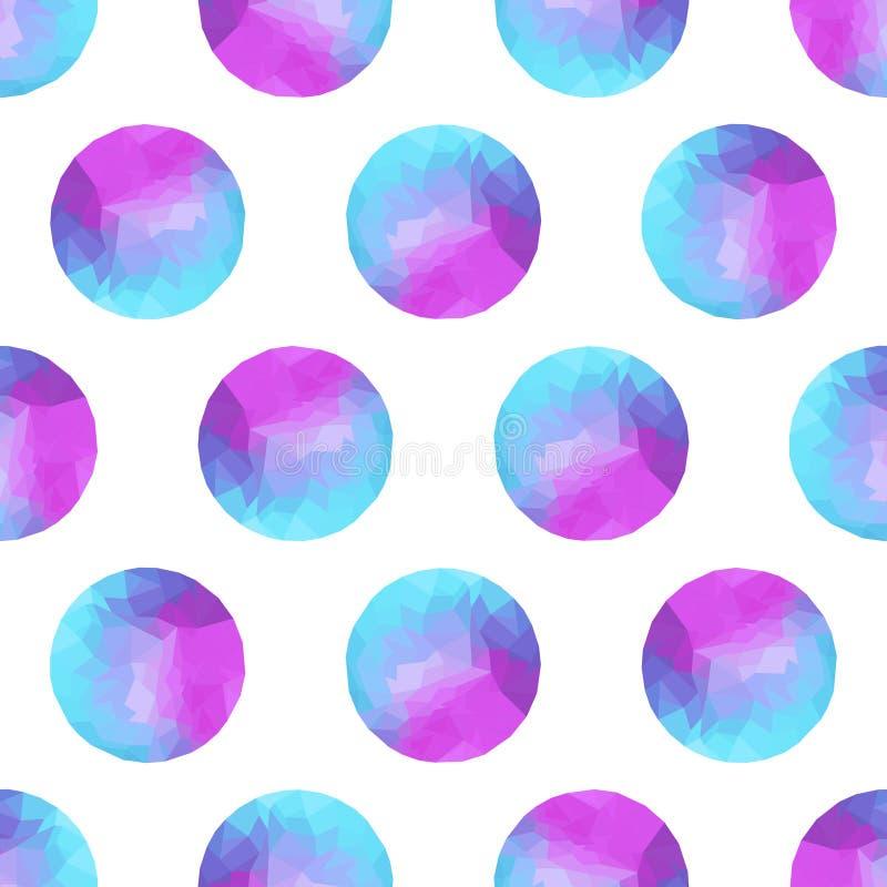 Fondo abstracto inconsútil de círculos coloridos, desi poligonal ilustración del vector