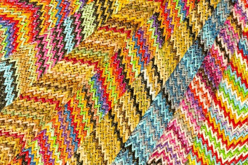 Fondo abstracto inconsútil multicolor de Zig Zag foto de archivo