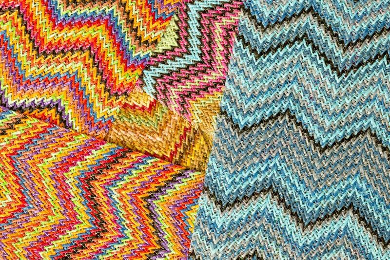 Fondo abstracto inconsútil multicolor de Zig Zag imagen de archivo libre de regalías