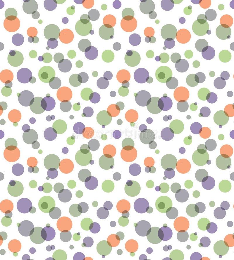 Fondo abstracto inconsútil transparente de los círculos de color de la capa libre illustration