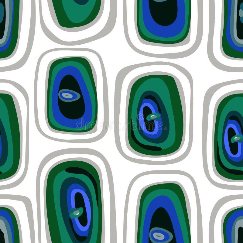 Fondo abstracto incons?til del vector Cuadrados azulverdes brillantes en un fondo transparente libre illustration
