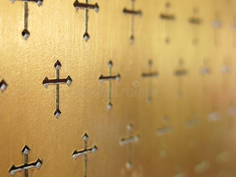 Fondo abstracto interior de la iglesia Foco selectivo abstracto foto de archivo