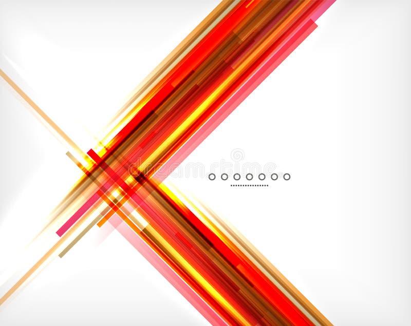 Fondo abstracto inusual - líneas rectas finas ilustración del vector