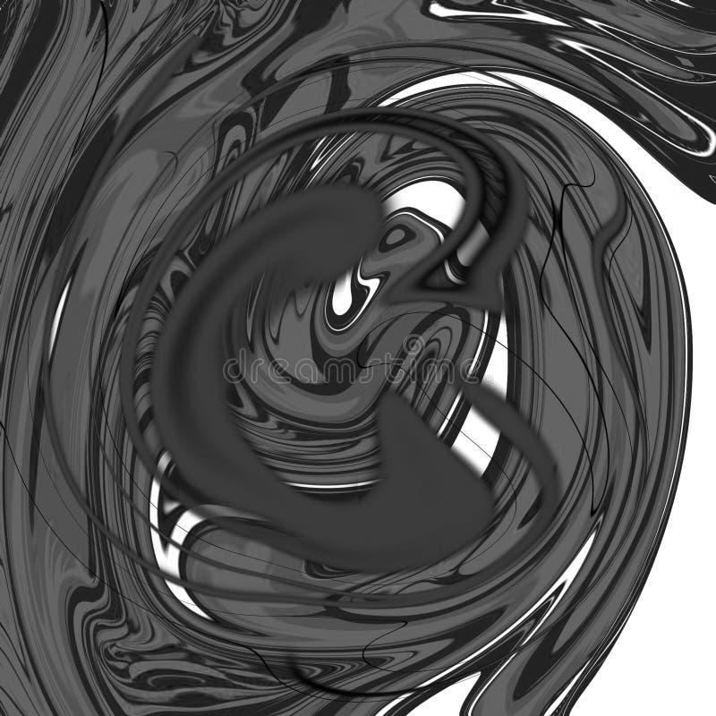 Fondo abstracto líquido de mármol con las rayas de la pintura al óleo stock de ilustración