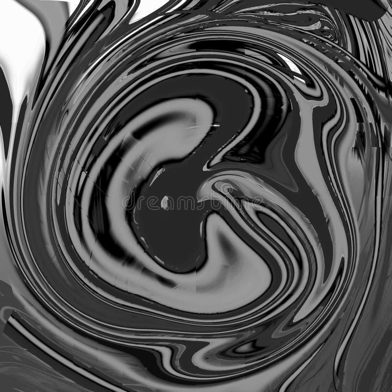 Fondo abstracto líquido de mármol con las rayas de la pintura al óleo ilustración del vector
