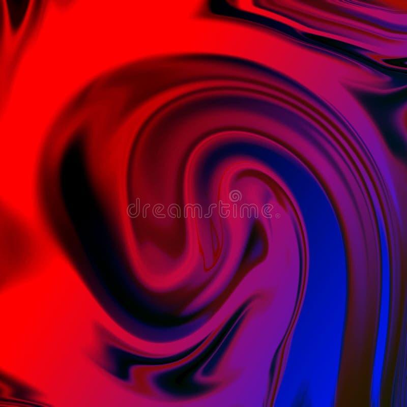 fondo abstracto l?quido con las rayas de la pintura al ?leo ilustración del vector