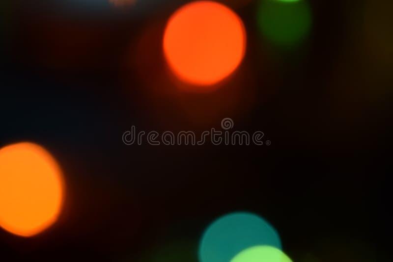 Fondo abstracto ligero de Bokeh Remiendos de Varicoloureds de la luz para el fondo imagen de archivo