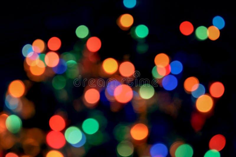 Fondo abstracto ligero de Bokeh Remiendos de Varicoloureds de la luz para el fondo foto de archivo libre de regalías
