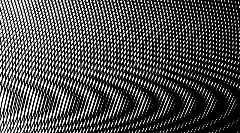 Fondo abstracto linear de Hipnotic con la ilusión del moaré ilustración del vector