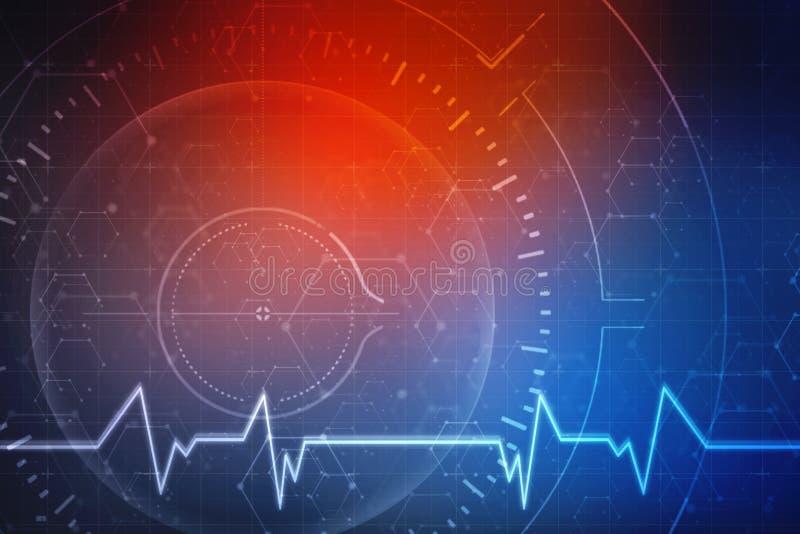 Fondo abstracto médico, tecnología médica y fondo de la tecnología libre illustration