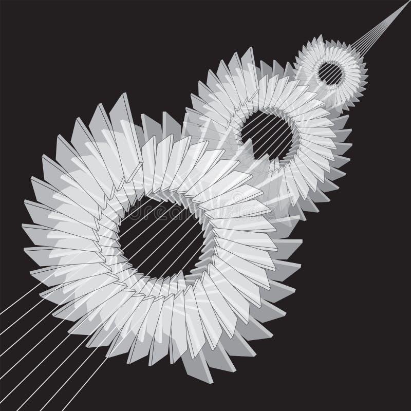 Fondo abstracto mec?nico Imágenes estilizadas de engranajes stock de ilustración